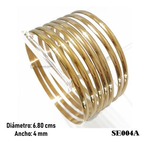 semanario 68mm 4mm acero inoxidable dorado