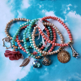 77a0c2792463 Semanario Colores Pastel Con Dijes