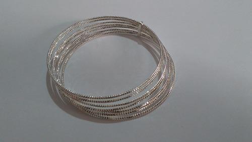 semanario de plata 925 brillantado 7 cms de diametro