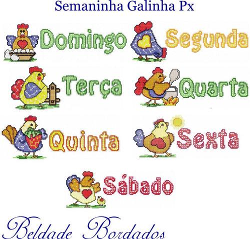 semaninha galinha px - coleção de matriz de bordado