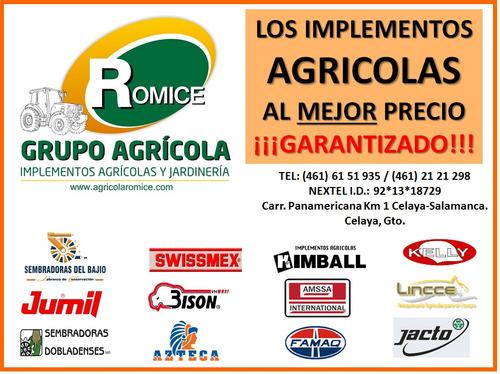 sembradora agricola manual o para cuatrimoto marca del bajio