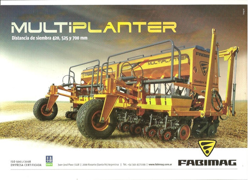 sembradora fabimag multiplanter de gruesa