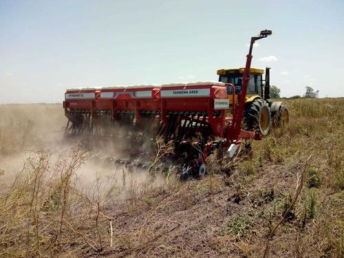 sembradora monumenta tambera para granos finos con alfalfero