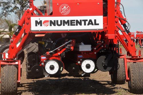 sembradora monumental 7250, granos gruesos con fertilizacion