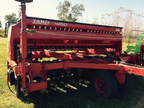 sembradora tanzi 4350 con cajón de semilla fina