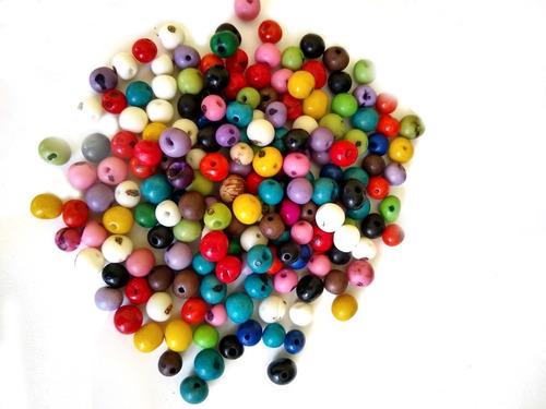 sementes de açaí coloridas  para artesanato ref: 9829