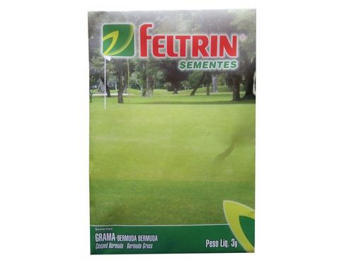 sementes de grama bermuda feltrin 75g (cobre 25m²)