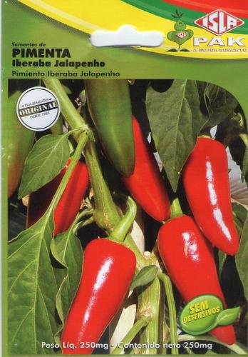 sementes de pimenta iberaba jalapenho 250mg p/ vaso horta