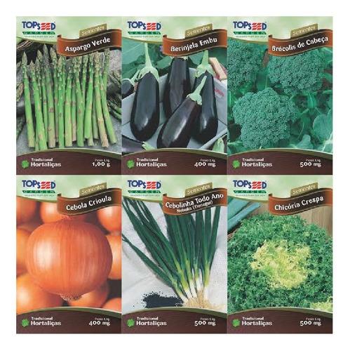 sementes hortaliça cenoura baby outros à escolha kit 24 env