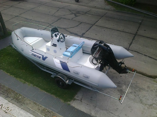 semi 5,2  m okm con mercury 60 hp 4 tiempos  full con power