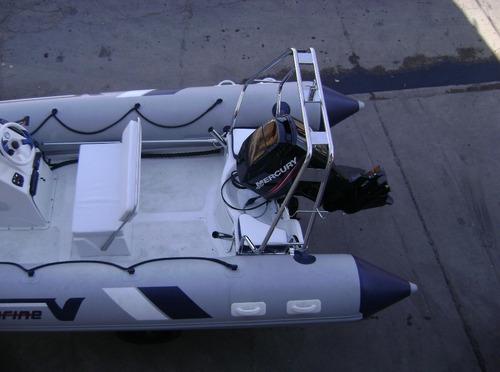 semi 5,2 mts con evinrude e-tec 60 hp full con relojes