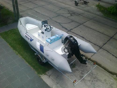 semi 5,2 mts matrizado con mercury 60 hp 4t full ecologico