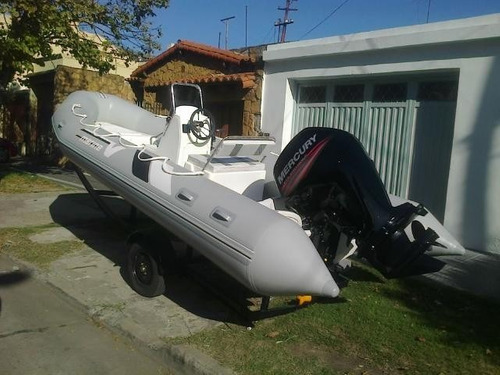 semi 5,4 mts matrizado con mercury 75 hp 4t full ecologico