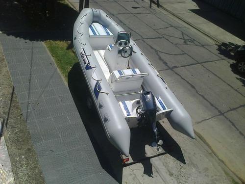 semi 5,5 mts matrizado con mercury 50 hp 4t full ecologico