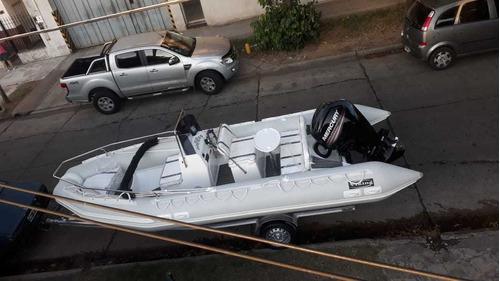 semi 6  m okm c/  mercury 115 hp 4 tiempos  full con power
