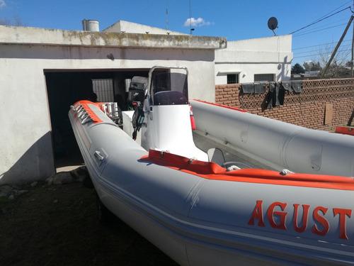 semi albatros 5.50 2013 con mercury 60 hp permutaria