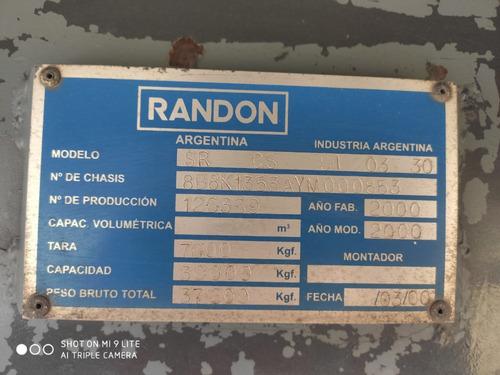 semi baranda volcable randón 2000 - con vigía y gomas