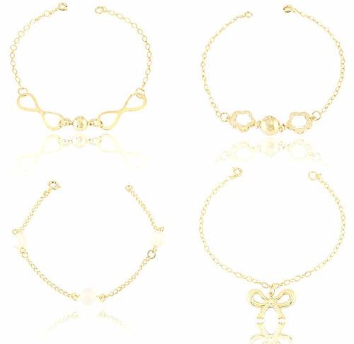 semi joias atacado 40 peças folheadas a ouro por r$169,90