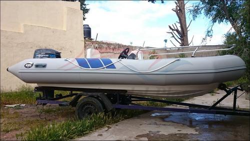 semi kiel pescador 460 nuevo equipado con motor powertec 40