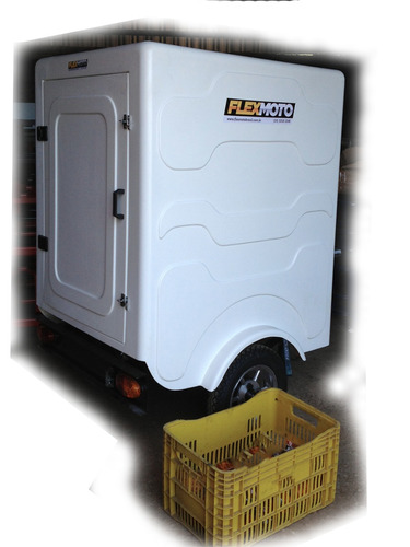 semi reboque, baú gg p/ moto, flexmoto, lavanderia, petshop