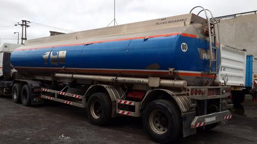 semi tanque fangio aluminio bottom 37000 lts- entrega + ctas
