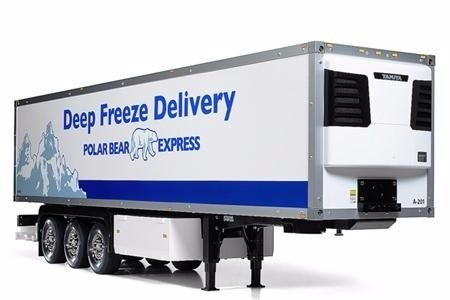 semi trailer para automodelo caminhão tamiya rc 3 axle 1/14
