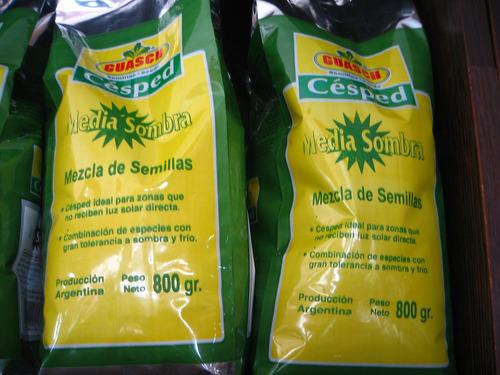 semilla cesped media sombra 0.8 kg o 20 m2 verde todo año