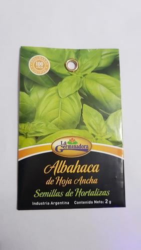 semillas de albahaca 2g x sobre la germinadora hortalizas