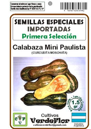 semillas de calabazas, sandías, melones y zapallos en sobres