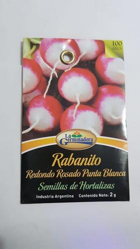 semillas de rabanito 2g x sobre la germinadora hortalizas