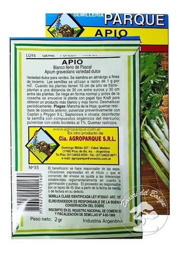 semillas huerta hortalizas varias - sobre