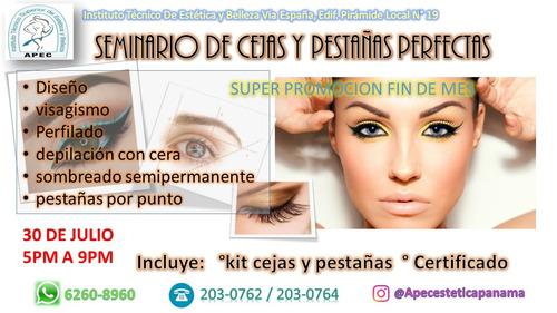 seminario de cejas y pestañas