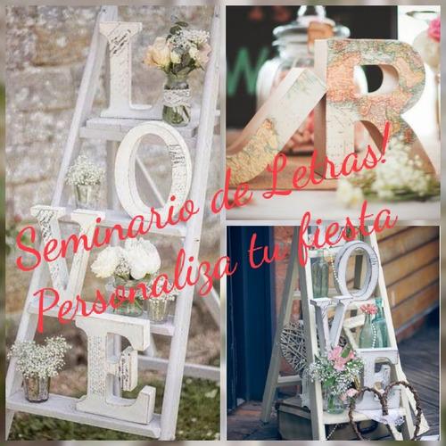seminario de decoración de letras vitage