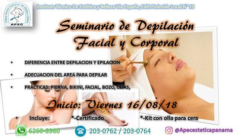 seminario de depilacion facial y corporal