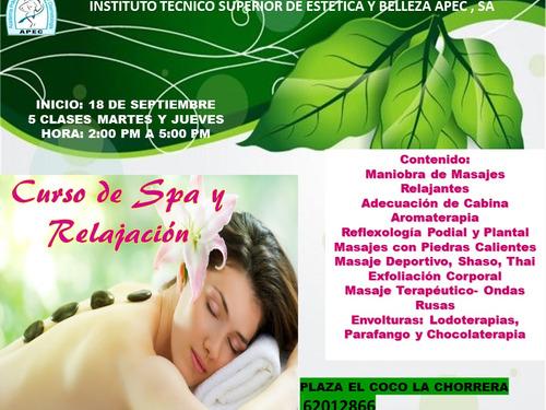 seminario de spa y relajacion