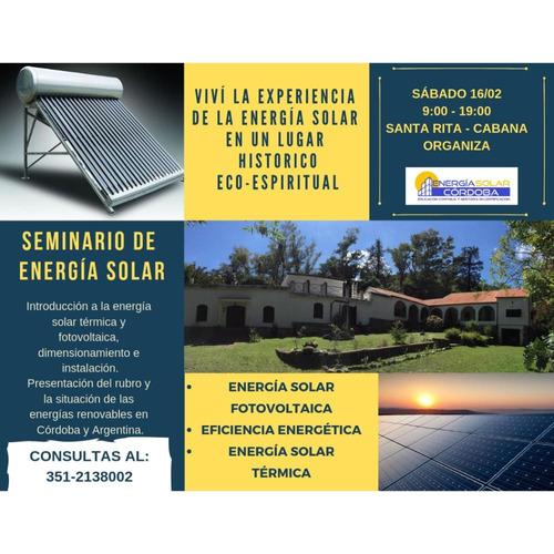 seminario intensivo de energía solar