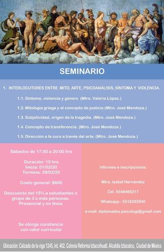 seminario: interlocutores entre psicoanálisis,mito y arte.