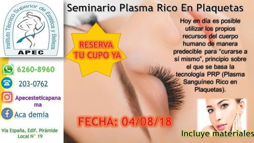 seminario plasma rico en plaquetas