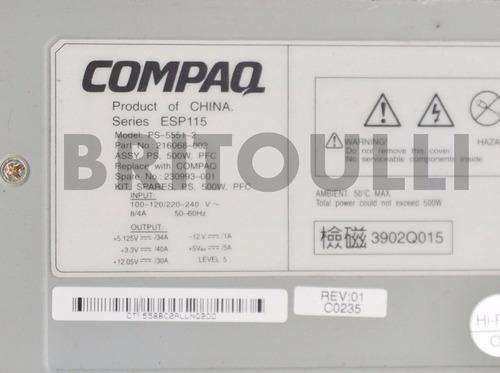 seminovo fonte servidor compaq ps 5551-2 ml 370 - 500w