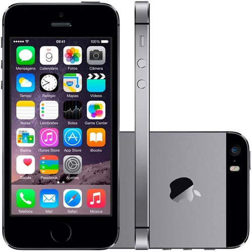 seminovo - smartphone apple iphone 5s 32 gb - prata - excele