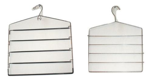 seminuevos 2 ganchos múltiples de metal para faldas pantalones ropa gancho multiple pantalonero  $289a