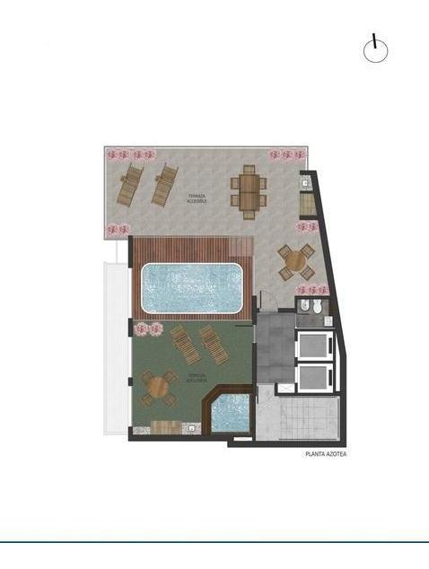 semipiso 2 dormitorios premiun a la venta - pichincha - rosario