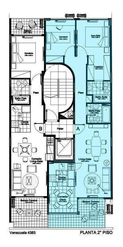 semipiso 3 ambientes con balcón en almagro