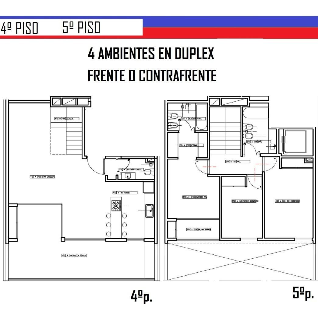 semipiso 4 ambientes de categoría en duplex