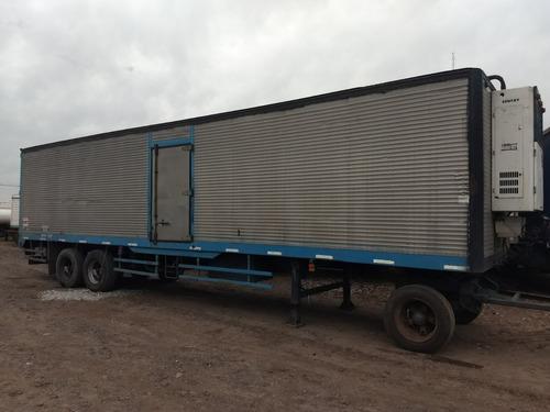 semiremolque furgón térmico montenegro c/ equipo frio t king