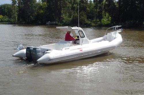 semirigido 8 mts - 2 yamaha x 90 hp  pesca mar-rio-lagos