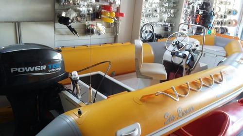 semirigido sea runner 460 con 40 hp -sin uso - oportunidad -