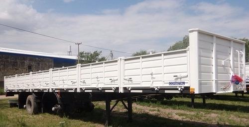 semirremolque 14,40 carga general cormetal 0 km 2+1 ejes