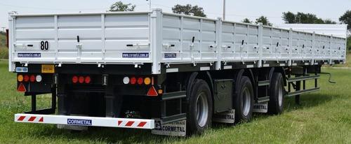 semirremolque baranda volcable cormetal 1+1+1 55,5 ton. 0km
