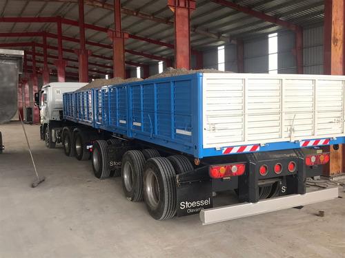 semirremolque bilateral doble caja tara 6950 kg